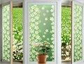 1 unid verde lila Vidrieras Estática Película de La Ventana De Papel Esmerilado Película Decorativa Para El Hogar Jardín Decoración