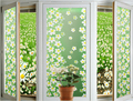 1pc green lilac Static Cling Window Film Stained Glass Paper Frosted Decorative Film For Home Garden Decoration