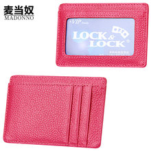 Slim Business Card Holder Genuine Leather Wallet Credit Card Case Card Holder Thin Id Card Holder Minimalist Pocket Wallets-5