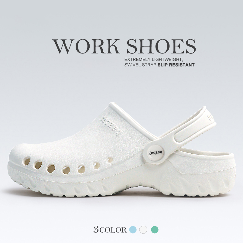 Strap Medical Shoes Work Clogs Doctor Shoes Classic Clog Slip-On Iconic Lightweight Professional Hospital Nurse Working Slippers