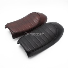 1x Motorcycle Leather Vintage Retro Hump Saddle Seat For Honda CB CL Cafe Racer CG125 CB200 CB350 CB400 CB500 CB750 SR400