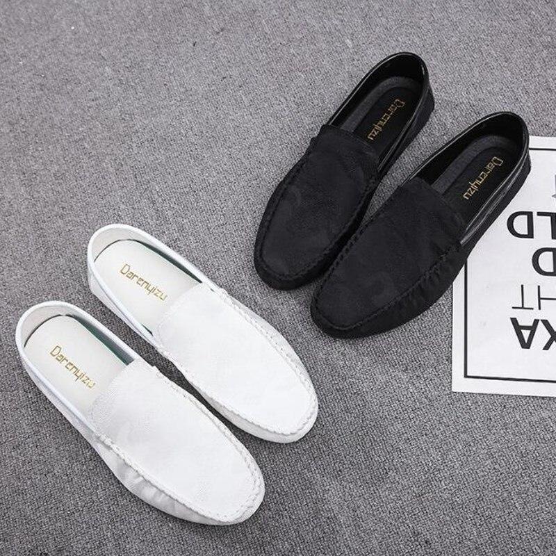 99ccc3bcd0 Zapatillas Hombres Mocasines Black Lona Los Calzado Transpirable Verano  Planos Slip De Estudiante On Moda 2019 Zapatos Deporte BrqrzCwt