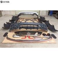 Y62 PP Неокрашенный комплект кузова автомобиля передний для заднего бампера боковые юбки фартук для Nissan Patrol Y62 Nismo Стиль 12 17