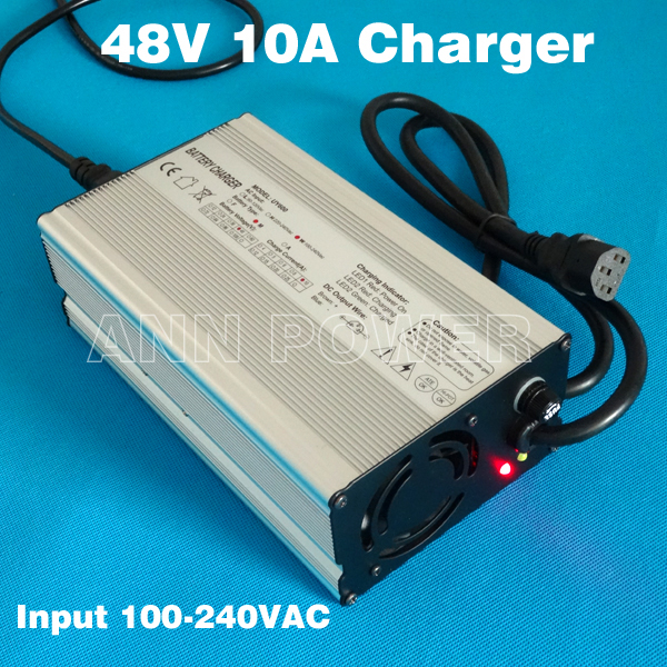 48V 10A charger 54.6V 10A lithium battery charger Output 54.6V10A Used for 13S 48V 30Ah 50Ah Lipo/LiMn2O4/LiCoO2 batteries-in Chargers from Consumer Electronics    1