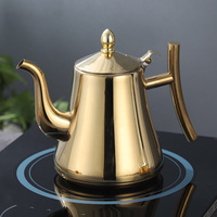 1L 1.5L 2L Thick stainless steel teapot with filter teapot hotel restaurant home cooker kettle large teapot