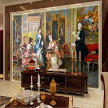 Custom wallpaper European court oil painting background wall high-grade waterproof material