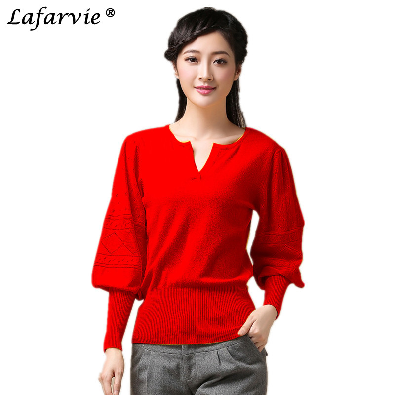 Lafarvie New Fashion Quality Cashmere Blended Sweater Women Pullover Full Sleeve O Neck Autumn Winter Female Soft Pull Jumper in Pullovers from Women 39 s Clothing