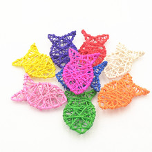 10pcs/set New Arrival Colorful Rattan Woven Pointed Fish Corridor Decoration Christmas/Birthday&Wedding Party DIY