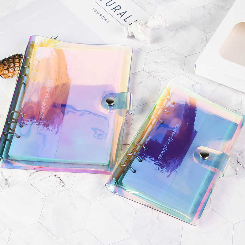 A5 A6 Laser transparent Notebook Planner Organizer Paper Planner Inner Page ring binder Diary Bullet Journal Notebook