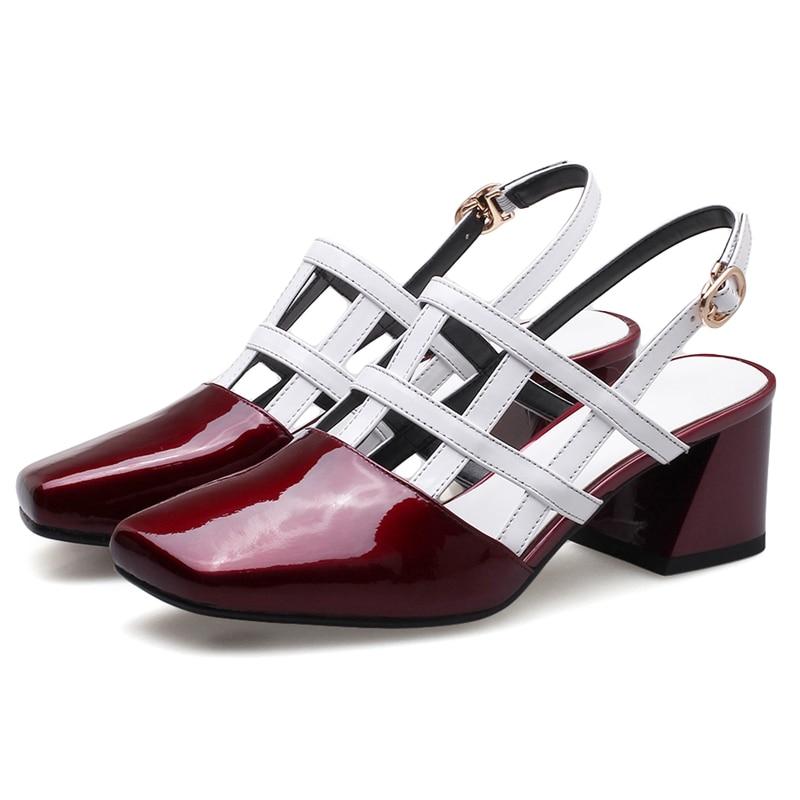 wine 2018 Janes Red Pour Vestir Chaussures Zapatos Black Moda Cuir Ly458 De Femmes Véritable Mode En 39 Mary 34 Mujer Enmayer Taille pqRB4q