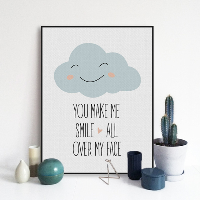 Modern Motivational Love Quotes A4 Art Print Poster Smile Wall