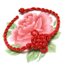 Lucky Chinese Knot Hand-woven Red String Bracelet for Couple Thread String Bracelets Charm Women Bangle Chain Men's Red Ropes(China (Mainland))