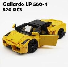 Yile 011 Gallardo LP 560-4 Building Blocks 1069 lepin технический кирпич 8169 фигурка наклейки автомобильные игрушки для детей