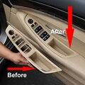 4 шт. правый руль RHD для BMW 5 серии F10 F11 520 525 мокко внутренняя ручка двери автомобиля внутренняя панель накладка подлокотник