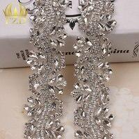 (10 yards) Toptan Gelin Dikiş On Kristal Aplike Düğün Kostümler Için Oval Rhinestone Trim Cam