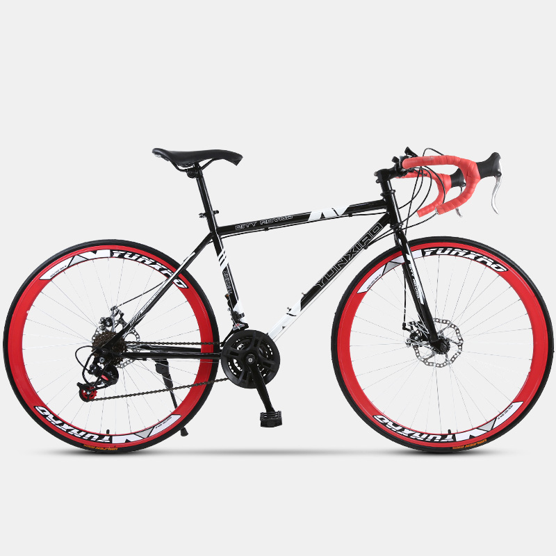 Bend-Handled Dead-Flying Bicycle With Variable Speed Road Acing Seven Pieces Of Tower Wheel Double Disc Brake Adult Students