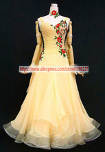Waltz Dance Dresses For Women High Quality Custom Made Elegant Halter Tango Flamenco Modren Ballroom Competition Dress