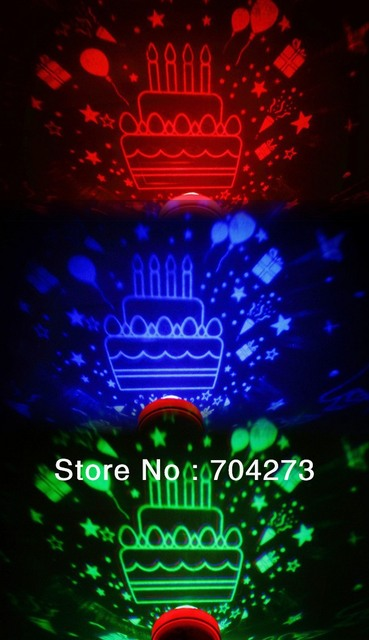 (Happy Birthday)Creative novelty LED projection electronic candle/projector Toy/Valentine's Day , a birthday gift/Free shipping