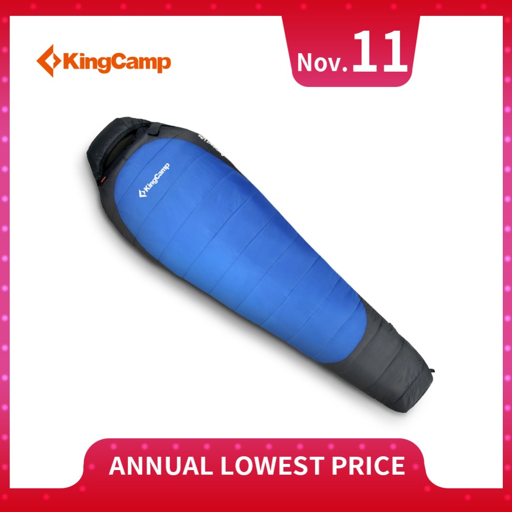 KingCamp Mummy Sleeping Bag Ultralight Portable Cold Winter Thick Lazy Bags for Camping Backpacking with Compression Bag kingcamp ultralight lazy bag mummy portable waterproof 2 season sleeping bag for camping backpacking