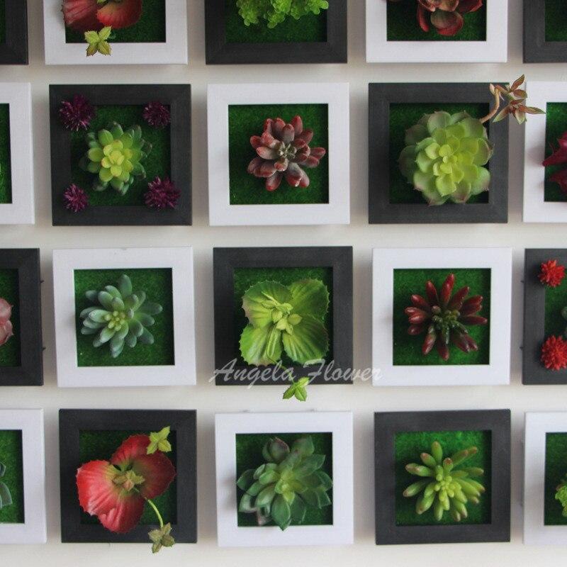 Negro creativo 3D metope plantas suculentas imitación de madera ...