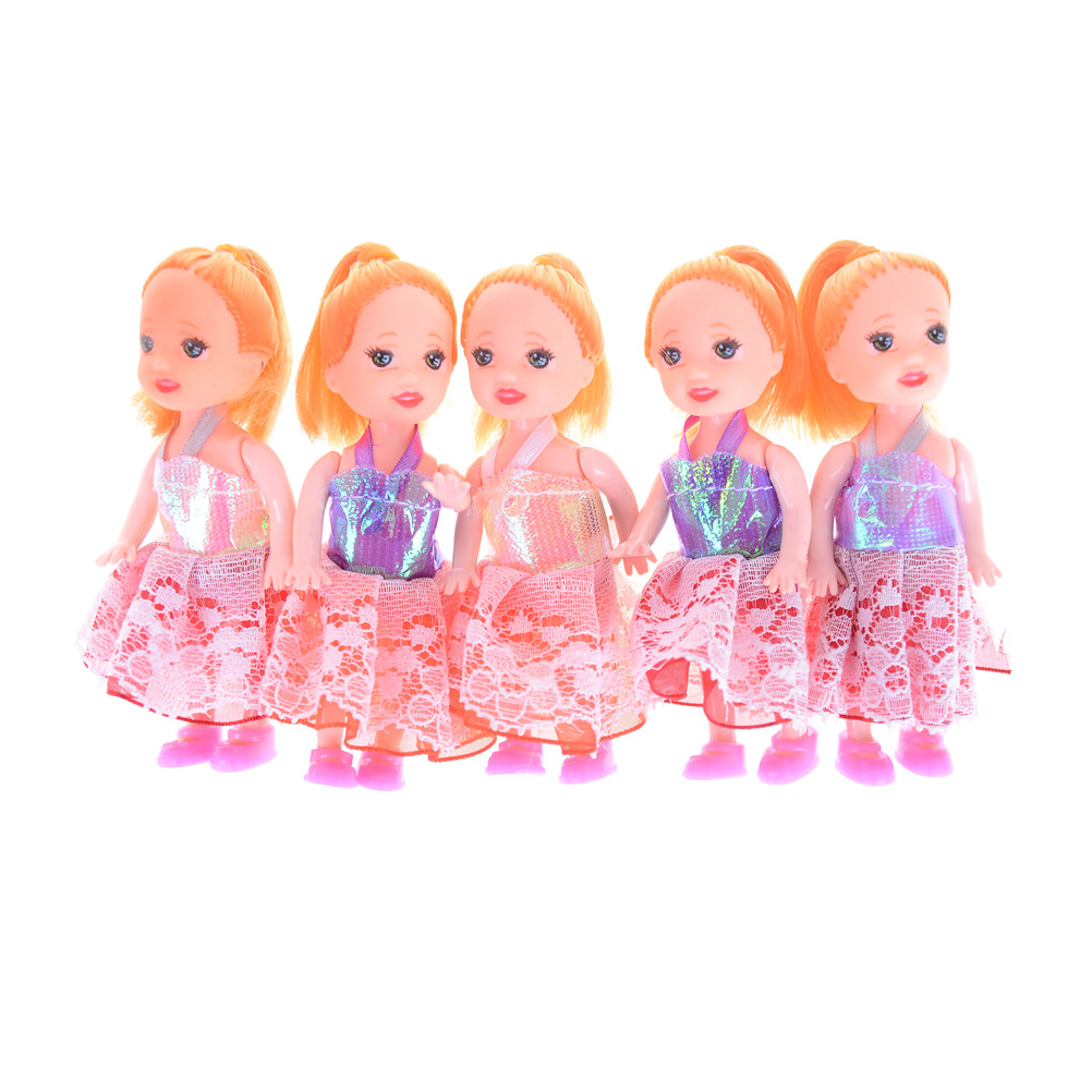 2Pcs Little Kelly Doll Toys Cartoon Princess Sister Kelly Mini Doll Toys for  Doll Best Gift Doll Accessories