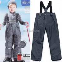 2017 new style Child winter pants thick cotton padded boys overall windproof kids outdoor skisuit waterproof skiing pants 7~8T