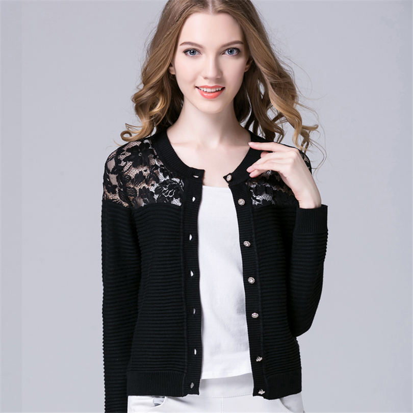 Women Cashmere Cardigan Knitted Long Sleeve Female Cardigan Cotton ...