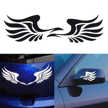 Hot New Arrival 1 Pair Personality Fire Wings Side Mirror Car Stickers Decorative Stickers Decorative vinyl High Quality image