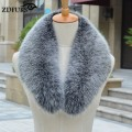 ZDFURS * Real fox Fur Collar Scarf Womens Shawl Wraps Shrug Neck Warmer Stole Wholesale Hot sale Ring Scarf Womens ZDC-163003