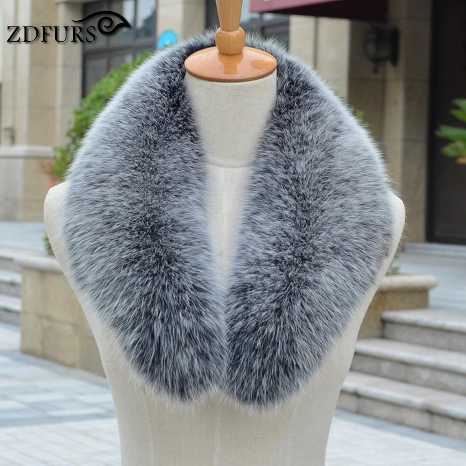 ZDFURS * Real fox Fur Collar Scarf Womenss