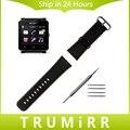 24mm de ancho correa de piel genuina para el sony smartwatch 2 sw2 reloj banda de Pulsera Correa de Herramientas y Barra de Resorte Negro Marrón Rojo