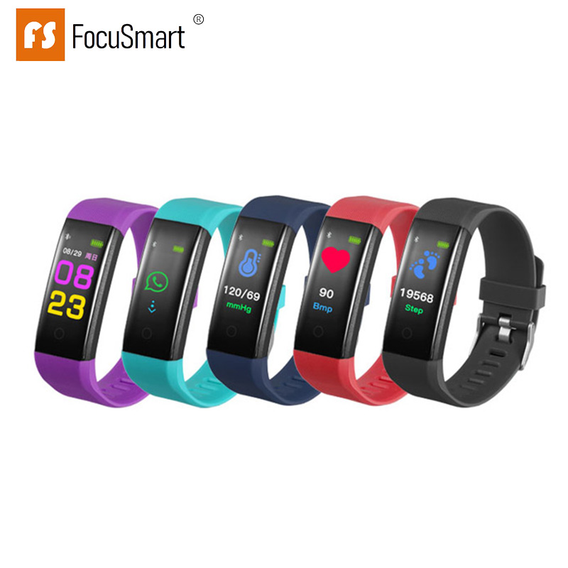 FocuSmart ID115Plus Smart Bracelet Waterproof Wristband Heart Rate Monitor Activity Fitness Tracker Smart Wristband PK Miband 3