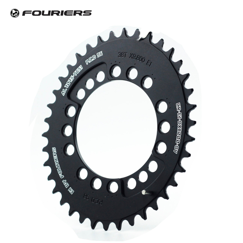 Fouriers MTB CNC Bike Big Oval Single Chainring PCD BCD 96mm Chain Ring For M8000 Bolts Narrow wide Teeth Chainwheel cnc al7075 oval single chainring chain ring bcd 96 40t 42t 44t crank 1 x speed for shimano fouriers