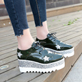 2017 Platform Girls Slipony Women Elyse Star Flats Shoes Brand Designer Rhinestone Flats Loafers Espadrilles Horsebit Creepers
