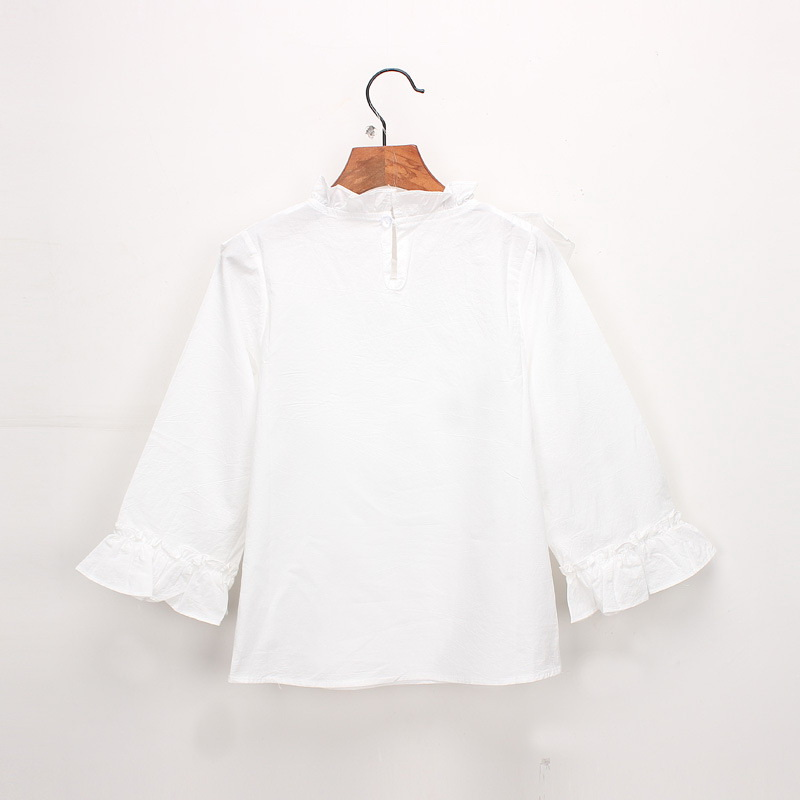 45-14-baby girl ruffles Solid blouses