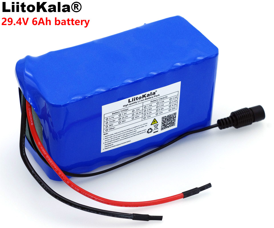 LiitoKala 24V 6 Ah 7S3P 18650 Battery 29.4 v 6000mAh 250W BMS Protection Electric Bicycle Moped /Electric/Li ion Battery Pack varicore 24v 6ah 6s3p 18650 battery li ion battery 25 2v bms 6000mah electric bicycle moped electric battery pack 1a charger