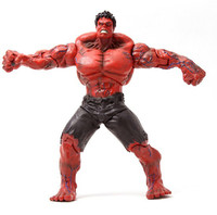 Red and Green Hulk Action Figures Collectible 10inch 3