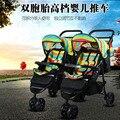 Gêmeos Carrinho De Criança, Gêmeos carrinho de criança, Carrinho de bebê para Gêmeos, dois Assentos Carrinho de Bebé, pode Ser Parcelada, 2 Crianças Do Trole