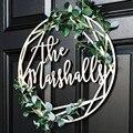 38 см знак на дверь персональная фамилия для передней двери фамилия украшения на заказ окрашенный знак имени для домашний декор