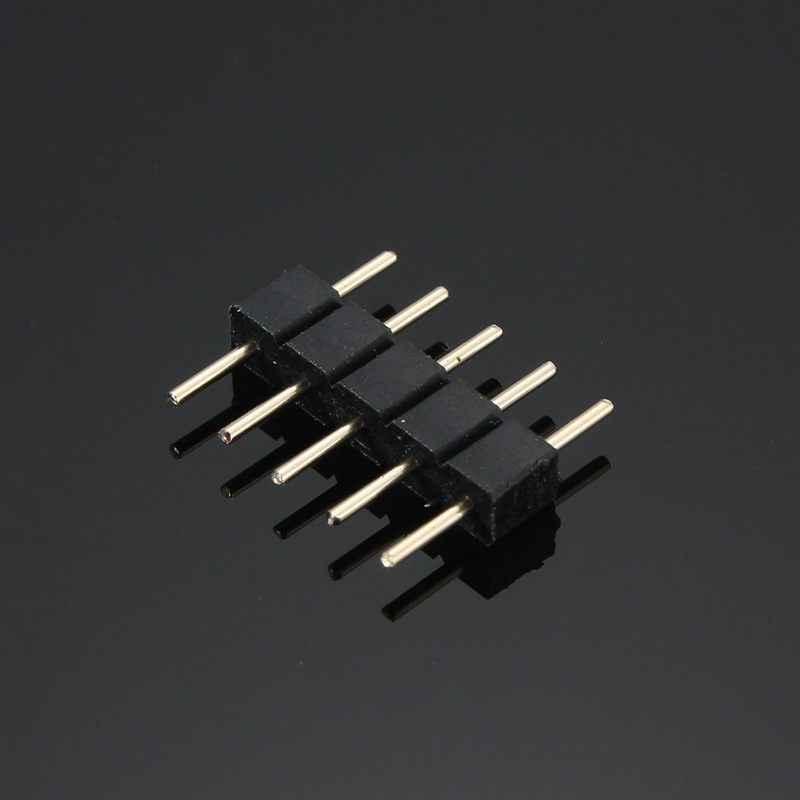5 Pin terminale akcesoria igły podwójne RGBW RGB Adapter wtyczki bez lutowania do taśmy LED światła 5050 SMD