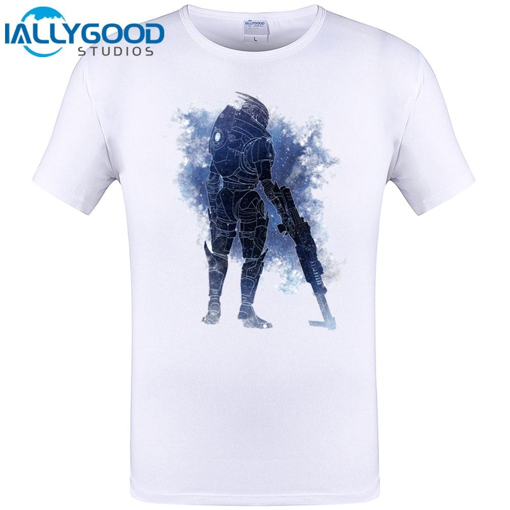 White t shirt effect - Mass Effect 3 N7 Archangel Design Mens T Shirt Brand New Famous Rpg Game Men T