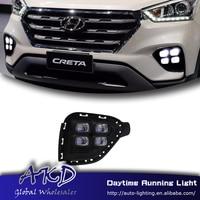 AKD Car Styling For Hyundai Creta IX25 2017 LED DRL For New Crata Turn Signal LED