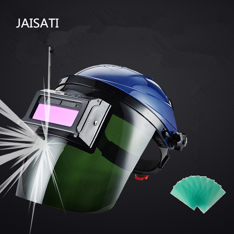 JAISATI Welding Automatic Loudspeaker Head  Masks  Breathable Weld Hood Welding TIG  Protection Dust Mask jaisati sunscreen veil summer dust masks breathable cycling driving neckscreen thin mask