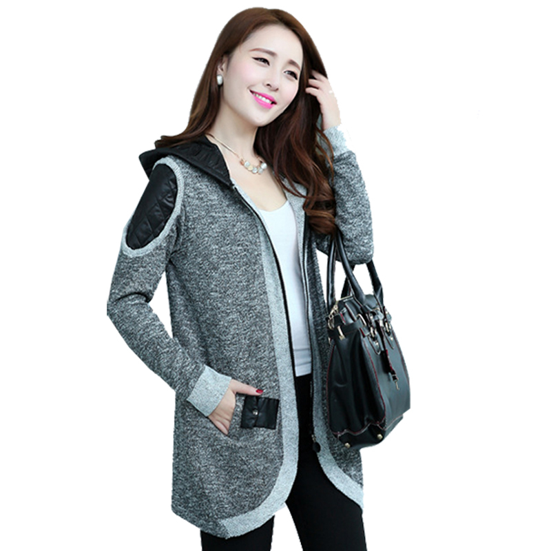 Free Shipping New Casual Autumn Winter Black Grey Knitted