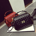Temperament joker Diamond lattice black lady handbags European and American style celebrities vintage bags high quality bags