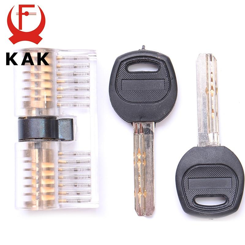 KAK Cutaway Inside View Of Practice Transparent Padlock Lock Training Skill Pick View Padlock For Locksmith With Smart Keys