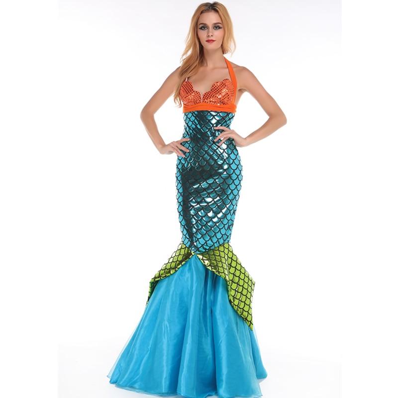 high waisted blue deluxe aquarius mermaid costume one
