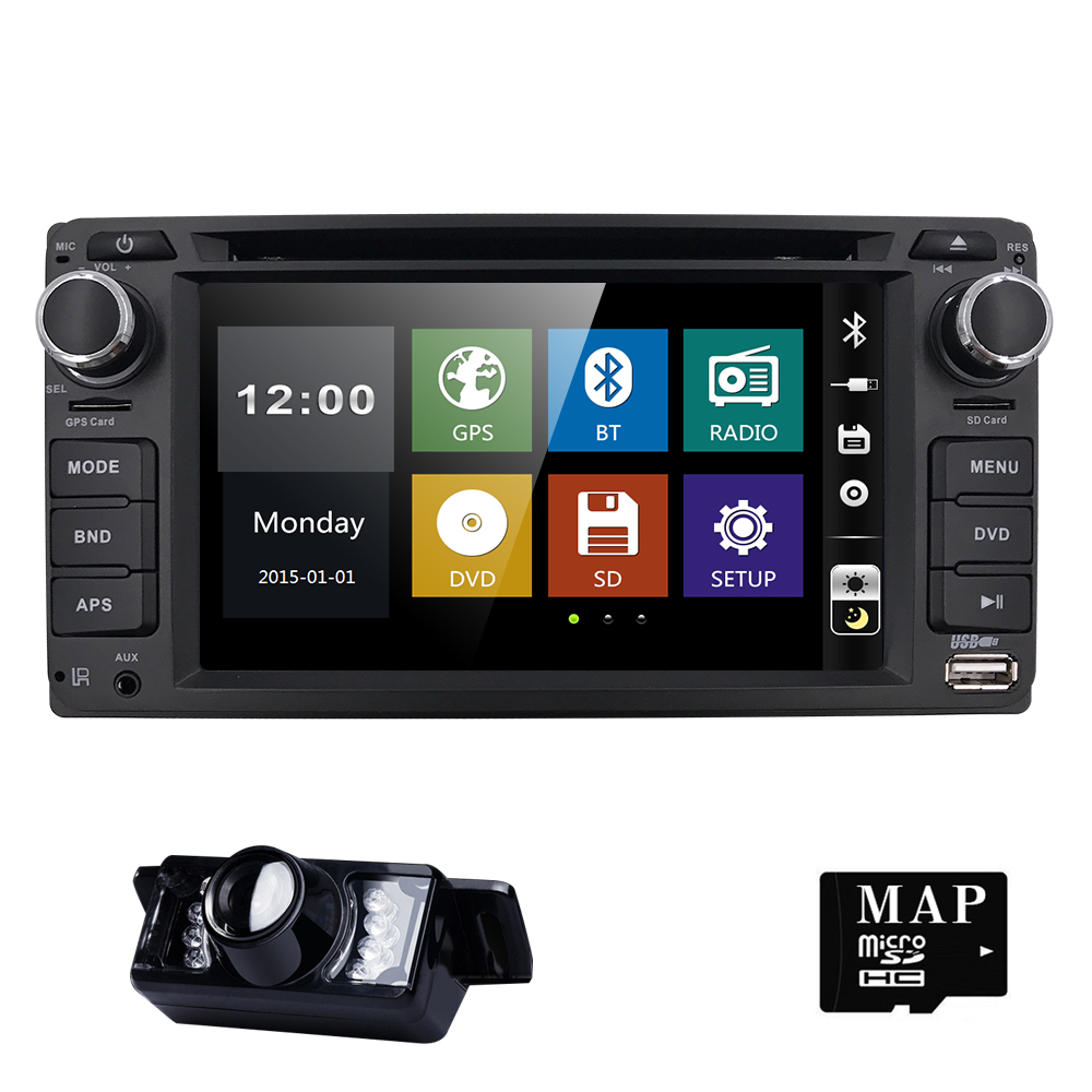 2din New universal Car Radio Car DVD Player GPS Navigation for Toyota old Car RAV4 PC Stereo video Free Map Car Electronics CAM цена