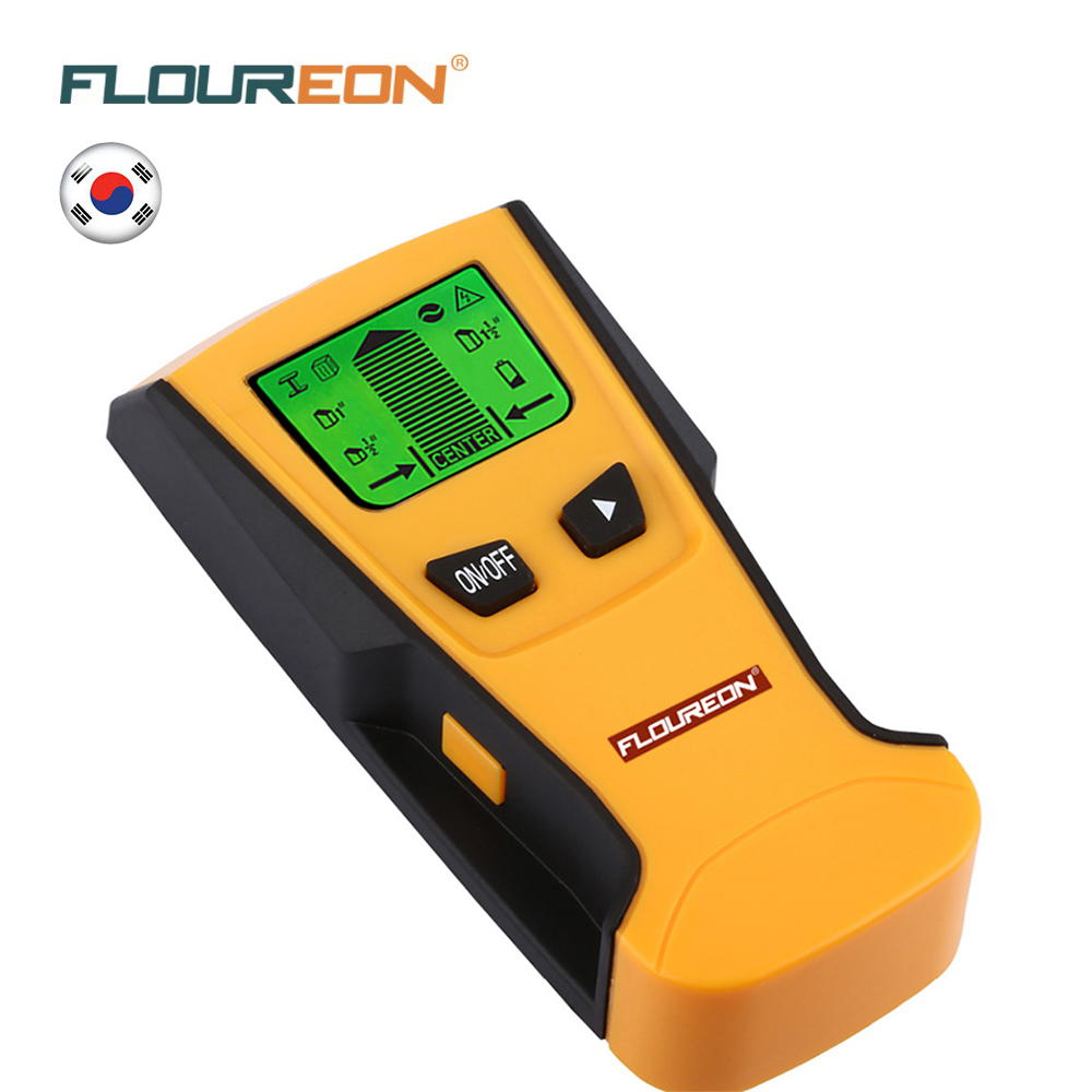 Floureon 3 In 1 Metal Detectors Find Metal Wood Studs AC Voltage Live Wire Detect Wall Scanner Electric Box Finder Wall Detector