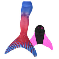 Women Fancy Mermaid Monofin Costumes Girls Mermaid Tails with Flipper Swimmable Swimwear with Fin for Children & Adult